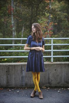 tales of me and the husband: colored tights for fall and musana jewelry