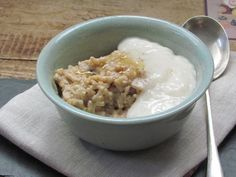 Cardamom rice pudding w coconut milk... add toasted nuts, dates, & raisins
