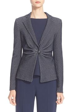 Armani Collezioni One-Button Embossed Jersey Jacket at Nordstrom.com. $1395