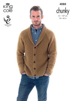 Cardigan and Hoodie Knitted with Big Value Chunky - King Cole