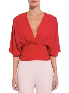 Alexandre Birman, Bell Sleeves, Bell Sleeve Top, Casual, Ideias Fashion, Toque, V Neck, Chic, Women