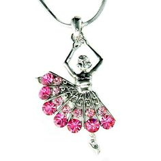 "PERFECT CHRISTMAS GIFT FOR LADIES!!!    You are getting a Ballet Dancer / Ballerina Pendant with Swarovski crystals. It comes with a FREE 18 inches silver finish necklace with lobster clasp. Ballet Dancer / Dancing Girl size is 1 wide X 1 5/8 high (25mm X 42mm)    Crystal Color: Light Rose, Rose      ===================    Prices are in US$.    For shipping policies and other important information, click on ""profile"" on the right.    See an item that you like but has already been sold?…"