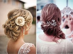 For more stylish and modern look, you can wear wedding hairstyles curly side bun in special big day. Inspire you with these photos of curly side bun wedding hairstyles. Fancy Hairstyles, Hairstyles Haircuts, Wedding Hairstyles, Bridesmaid Hairstyles, Curly Side Buns, Wedding Updo, Wedding Blog, Wedding Ideas, Loose Curls