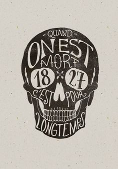 Skull Hand lettering by BMD Design