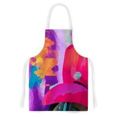 Kess InHouse Oriana Cordero 'Vespa II' Pink Purple Artistic Apron