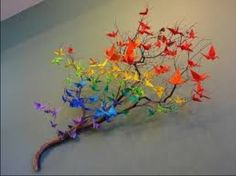 You could make paper birds and stick them to a tree