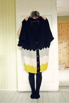 "Lovely sweater made by ""muita ihania"". I really really really want one."