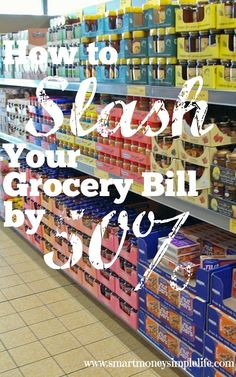 I'm on a mission to seriously reduce my spending at the grocery store. In the last few months I've managed to reduce spending on all our general grocery costs by over 50%. Reducing your food costs can be an easy way to make a big impact on your budget. This is how I did it. smartmoneysimplelife.com