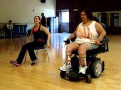 Wheelchair (seated) (chair) Zumba - Baila Baila - JenCarlos ft Pitbull &...