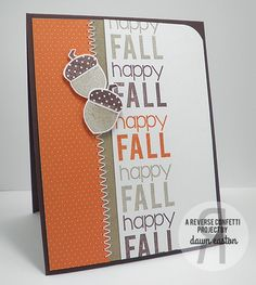 Happy Fall by TreasureOiler - Cards and Paper Crafts at Splitcoaststampers