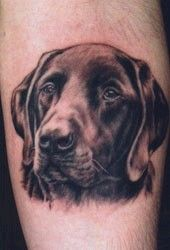 I love my dog so much I would consider a tat like this. Pin Up Tattoos, Great Tattoos, Dog Tattoos, Animal Tattoos, Tatoos, Tattoo Lower Back, Lion, Dog Paws, Dog Love