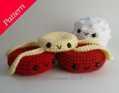 *******PATTERN ONLY--NOT FINISHED CELLS******* This listing is for three digital documents of written English instructions to crochet three different cells. *********************************************************************** My sister, a nurse, inspired me to make these plasma cuties,