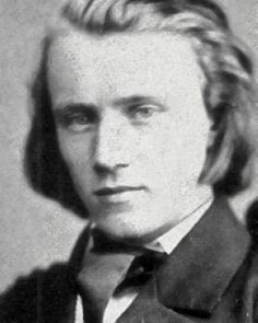 A young Johannes Brahms, 1853. Brahms was born in Hamburg, Germany, but spent most of his working career in Vienna.  As a young man he became very good friends with Robert and Clara Schumann.