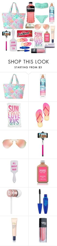 """""""What's in my Beach Bag"""" by pocket-full-of-rainbows on Polyvore featuring Lilly Pulitzer, Zimmermann, Victoria's Secret, Ray-Ban, Merkury Innovations, Beats by Dr. Dre, Maybelline and Estée Lauder"""