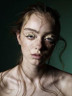 makeup flowers eye lids