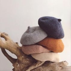 I seriously want at least one for myself, though I can kinda stretch my little one's to fit my toddler-sized head.Perfect for ages these knitted hats are cozy, comfy, and cute! Newborn Crochet, Crochet Baby, Winter Clothes Sale, Boy Or Girl, Baby Boy, Knitted Beret, Soft And Gentle, Head Accessories, Baby Pants