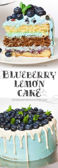 This show-stopping cake is a blueberry and lemon union made in heaven! It's made with lemon flavored cake layers, filled with lemon curd and blueberry preserves and topped with more blueberries on top! Mmm, simply divine! Watch the video recipe on my YouTube channel for all the details!