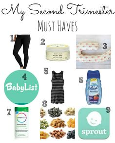 My Second Trimester Must Haves - greens & chocolate