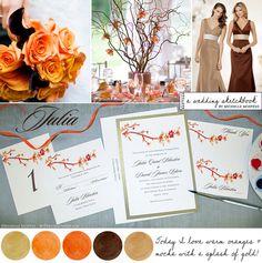 orange-mocha-gold-wedding-inspiration-board-1