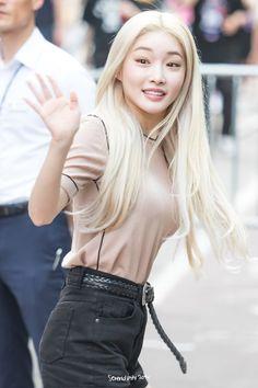 Kpop Girl Groups, Kpop Girls, Kim Chanmi, Chung Ah, Blonde Asian, Kim Chungha, Idole, K Pop, Korean Singer