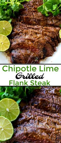 Chipotle Lime Grilled Flank Steak sah so much spicy smoky flavor #cincodemayo #spicy #steak #grilled via @FMSCLiving