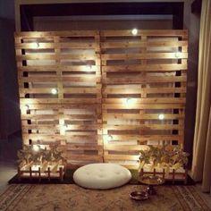 Photocall con palets para tu boda #MiBoda #novias #ideas #inspiración…