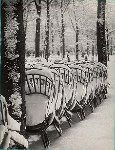 Neige au jardin du Luxembourg by Brassaï (Gyula Halász)
