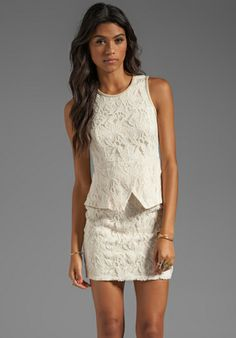 MM Couture by Miss Me Lace Peplum Dress in Ivory.  Need this...really need this....hint, hint :)