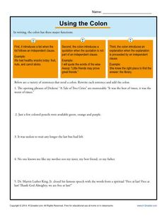 how to use colons in writing