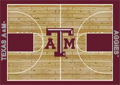 College Court NCAA Texas A&M Novelty Rug