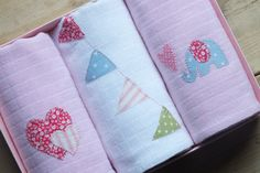 Items similar to Muslin Square Gift set, Handmade Baby Gift, baby girl, Hearts, elephant and bunting. on Etsy Handmade Baby Gifts, Diapers, Coin Purse, Projects To Try, Trending Outfits, Unique Jewelry, Etsy, Vintage, Costume Jewelry