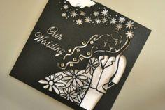 Wedding Laser Cut Invitation Floral Bridal Couple (INV019), insert & envelope | eBay