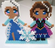 Frozen Perler Bead Stand Up by TriforceInk