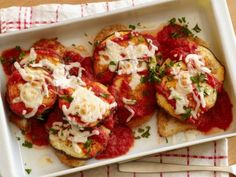 Lightened Chicken and Eggplant Parmesan Recipe | Food Network Kitchen | Food Network