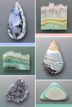 Such pretty rocks and crystals Minerals And Gemstones, Rocks And Minerals, Beautiful Rocks, Cool Rocks, Rock Collection, Mineral Stone, Jasper Stone, Rocks And Gems, Gemstone Colors