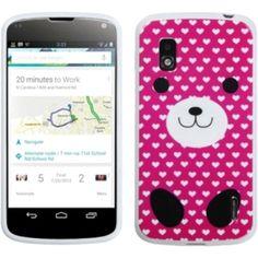 Insten Dog Love Candy Skin Phone Case Cover for LG E960 Nexus 4 #1108917