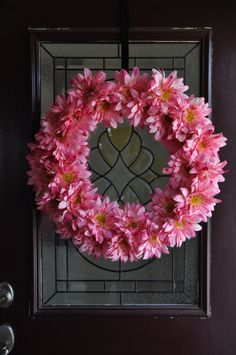 Pretty Spring Summer Floral Wreath in Large Pink by ItsAKimThing, $149.00