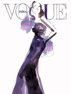 Vogue India watercolor illusttration by Sara Singh