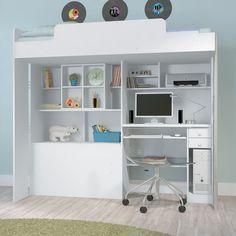 A cama multifunção é ideal para ambientes pequenos e garante muita praticidade e atitude para a decoração do quarto dos adolescentes. Ao unir dois móveis em apenas uma peça você tem mais espaço no ambiente e muita economia.