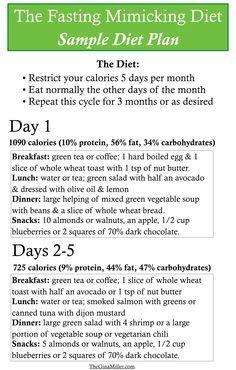 Fasting Mimicking Diet Sample Diet Plan | TheGInaMiller.com