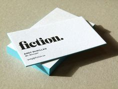 fiction. business cards printed by inkerlinker