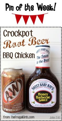 Crockpot Root Beer Barbecue Chicken Recipe! ~ from http://TheFrugalGirls.com ~ thats right... go grab the root beer and get ready for a delicious dinner surprise! #crockpot #recipes