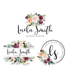 Flowers logo modern ideas for 2019 Logo Floral, Flower Logo, Branding Kit, Branding Design, Business Logo Design, Logo Boutique, Blog Logo, Round Logo, Web Design