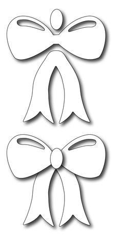 Frantic Stamper Precision Die - Flat Bow (set of 3 dies)-This large flat bow is perfect for mailable cards as it won't add the bulk of a folded bow Applique Patterns, Craft Patterns, Quilt Patterns, Felt Christmas, Christmas Crafts, Christmas Decorations, Felt Crafts, Paper Crafts, Coloring Books