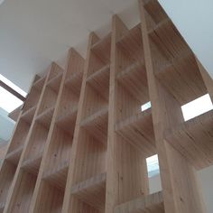 #chantier #construction #wood #bois #obra #bibliotheque #stairs #bookcase #architecture #baubuche #pollmeier