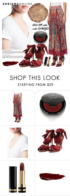 """ADRIANA ONLINE: Burgundy"" by gaby-mil ❤ liked on Polyvore featuring Roberto Cavalli, Rituel de Fille, James Perse, Alexandre Birman, Gucci and Illamasqua"