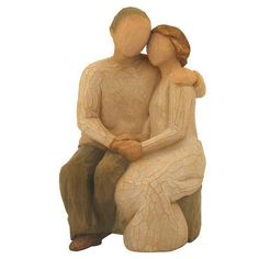 Anniversary Willow Tree Figurine - resin - 5 3/4 inches tall - $35 - seated couple in loving embrace #willowtree