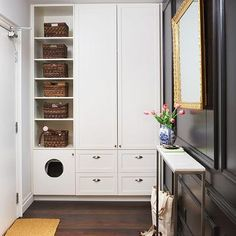Entry area built-in cabinet/pantry/bookcase