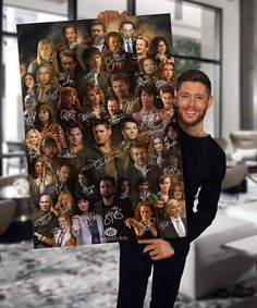 Awesome Supernatural poster years of the characters! Supernatural Fandom, Castiel, Funny Supernatural Memes, Supernatural Bloopers, Supernatural Imagines, Supernatural Tattoo, Wallpapers Supernatural, Smallville, Familia Winchester