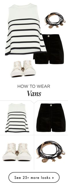 """""""Untitled #62"""" by mabro on Polyvore featuring River Island, Cardigan, Vans and Forever 21"""